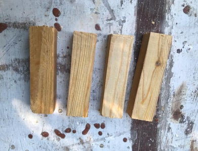 Make the Wooden Pegs and Paint Them