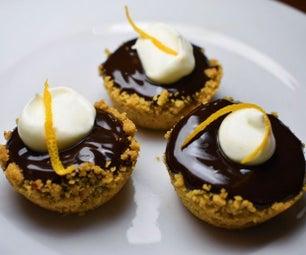 巧克力挞用椰子壳蛋白杏仁饼干