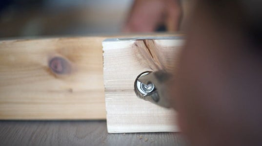 Attach Washers and Nuts to Rod