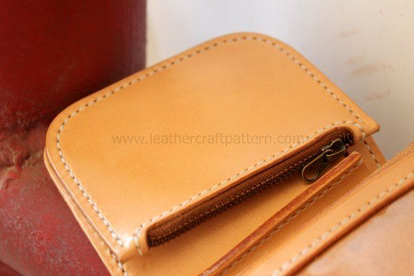 Picture of Paint Mink Oil to Finish This Wallet.