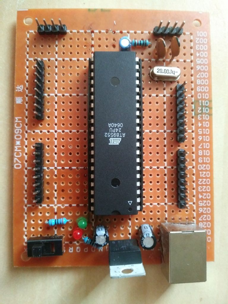 Picture of AT89S52 - Veroboard & Upcycling Components