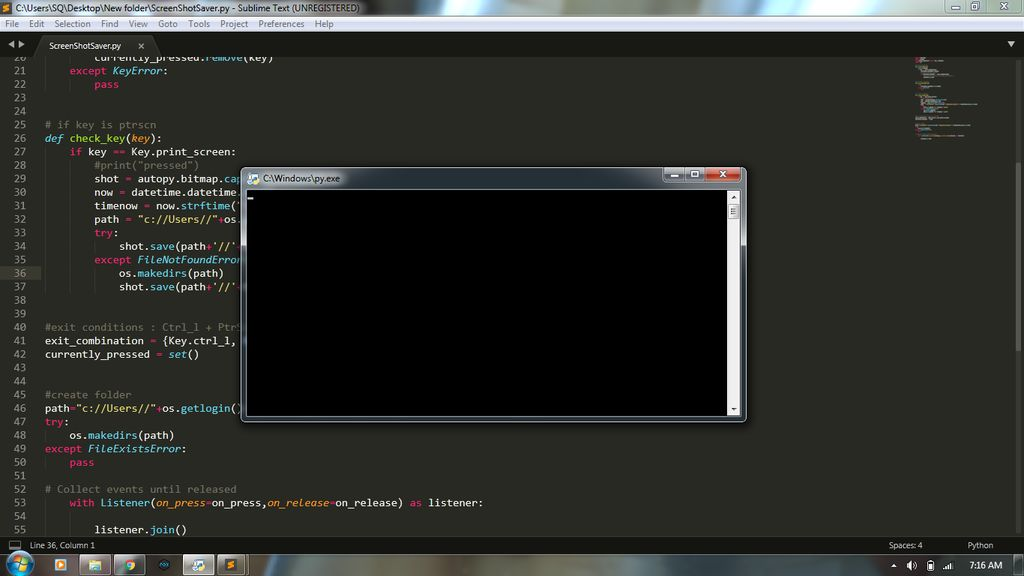 Picture of Testing the Code and Running Without the Console Window.