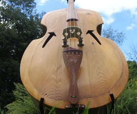 Upright Bass Made From Free (Reclaimed) Wood