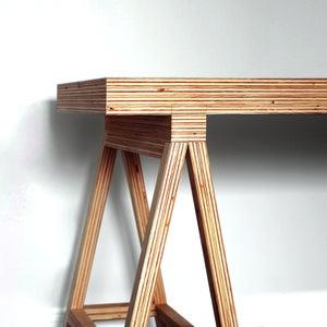 DIY Modern Plywood Desk
