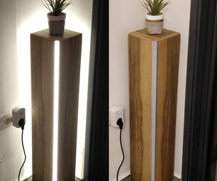 Smart Floor Corner Wooden LED Lamp DIY