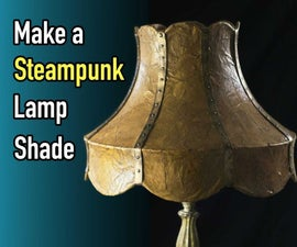 DIY Steampunk Lampshade Using Brown Paper