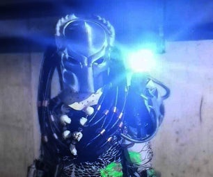 Interactive Predator Costume With Head Tracking Plasma Cannon