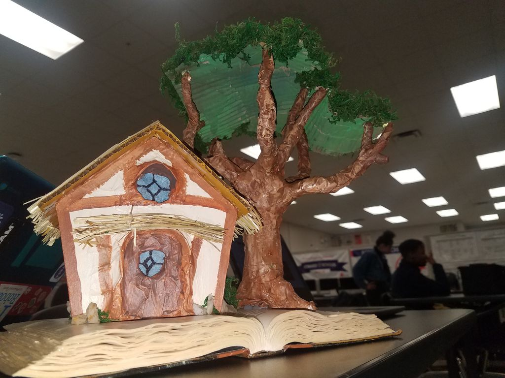 Picture of Dwarf House Book With Tree- a Story Coming to Life