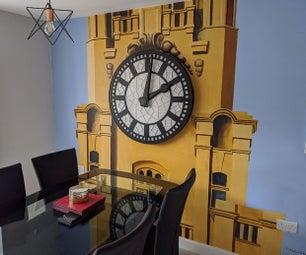 """""""乔治""""利物浦肝脏建筑钟的复制品"""