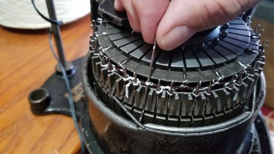 Remove Half of the Ribber Needles