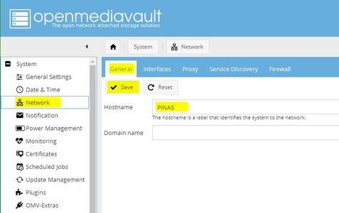 Configuring OMV: System