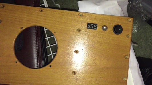 Add Components to the Back Panel and Shelf to Hold Amp in Place