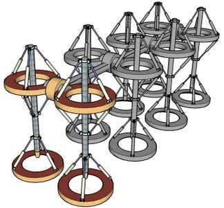 A Tensegrity Robot From a Reflected Pair of Tetrahedron's?
