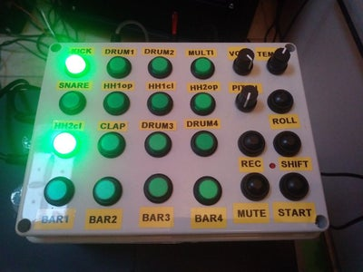 Arduino MIDI Rhythm Section Sequencer