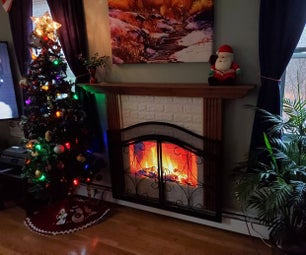 Digital Fireplace Screen