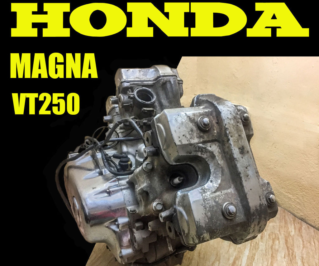 Honda Magna VT250  - Engine Heads Buffing and Cooling Fins Painting