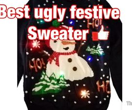 🥳 COOL Ugly Sweater Made Out of DIY!