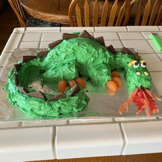 Prime Fire Breathing Dragon Cake 6 Steps With Pictures Instructables Personalised Birthday Cards Veneteletsinfo