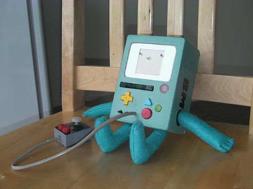 Picture of Adventure Time's BMO: GBC Mod Replica
