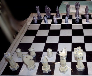 Cardboard Chess Pieces