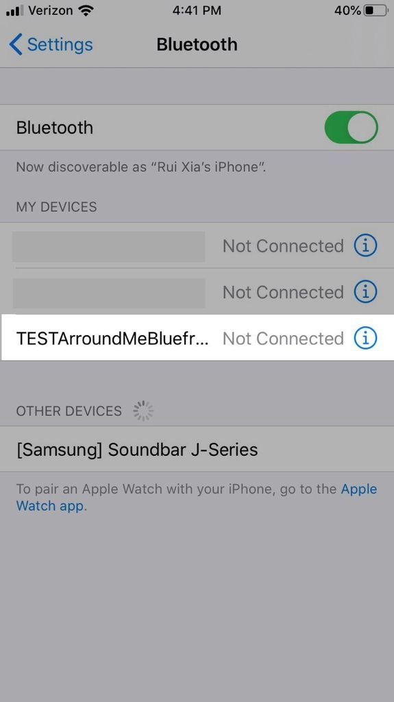 Picture of Connect to Bluetooth