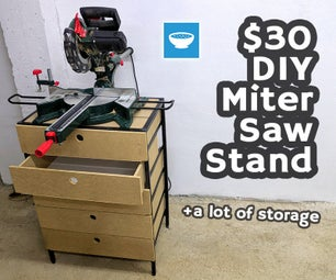 Very Cheap $30 Miter Saw Stand