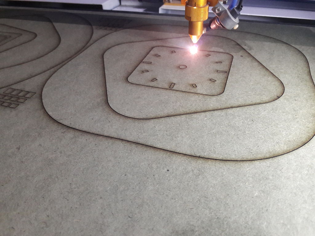 Picture of Cut Each Layer by Laser Cnc Machine