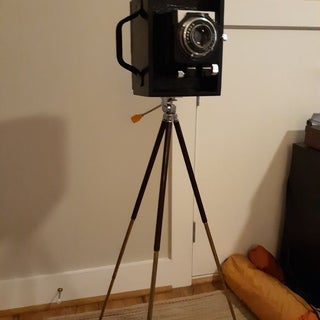 Large Format View Camera From a Cigar Box