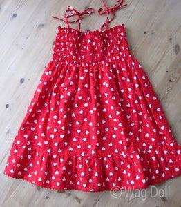 Girls Cotton Dress With Shirring & Ruffles - Tutorial