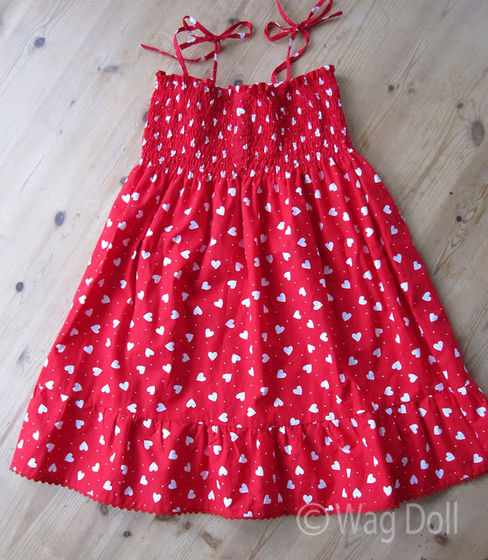 Picture of Girls Cotton Dress with Shirring & Ruffles - Tutorial