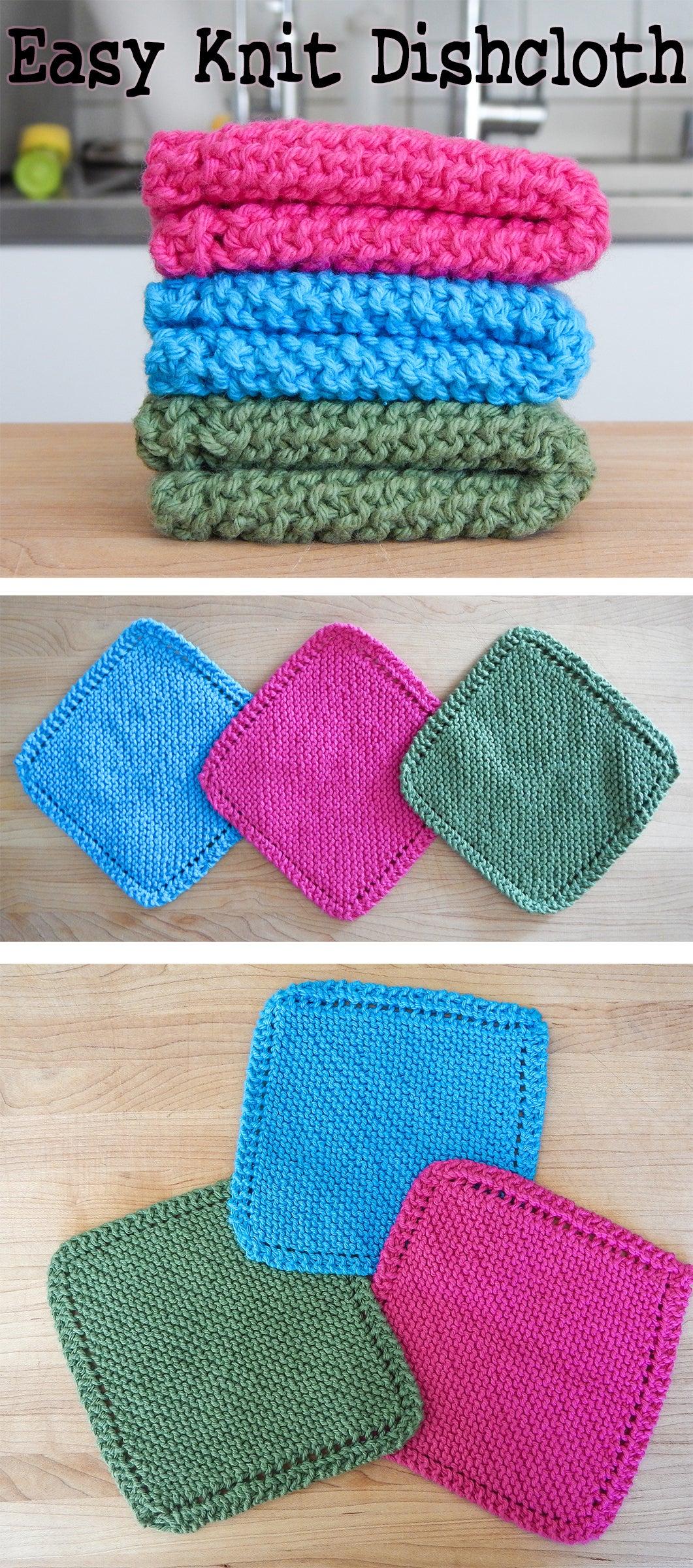 KNITTING PATTERN dishcloth  washcloth easy knitting pattern