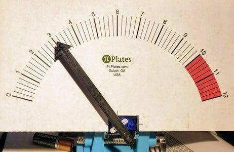 Retro Analog Voltmeter