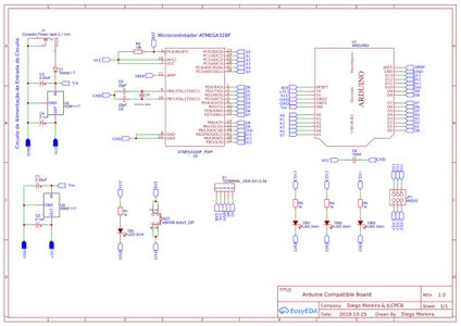 Electronic Schematic of the Arduino Compatible Board