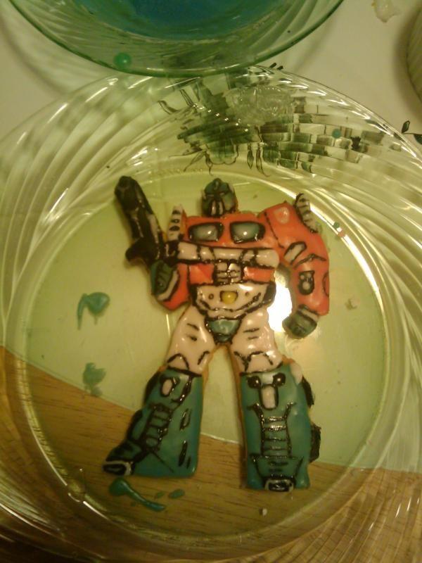 Picture of Optimus Prime Cookie