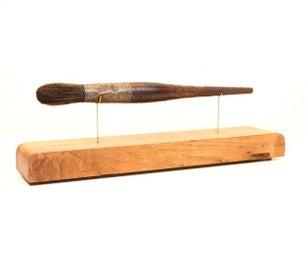 做一个展示架木材和铜的出