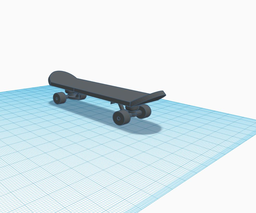 Picture of Custom 3D Printable Skateboard Models!
