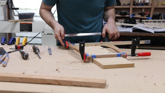 Gluing Up the Lamp