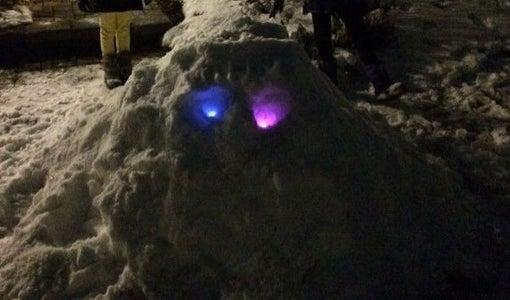 Glowing Snow Mump