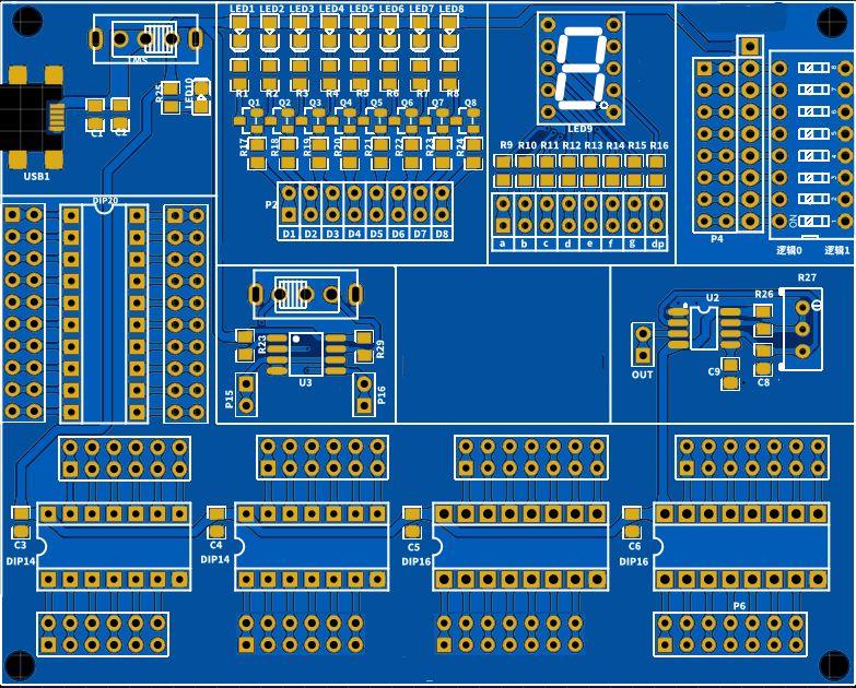 Digital Circuit Experimental Platform By Jlcpcb Hackaday Io