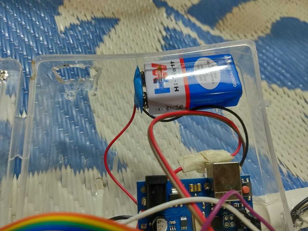 Picture of Battery and Vibration Motor