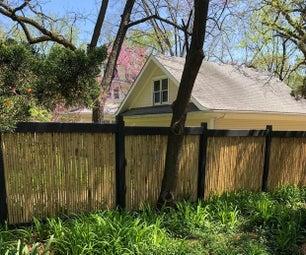后院竹篱笆