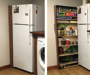 Slide Out Refrigerator Cabinet