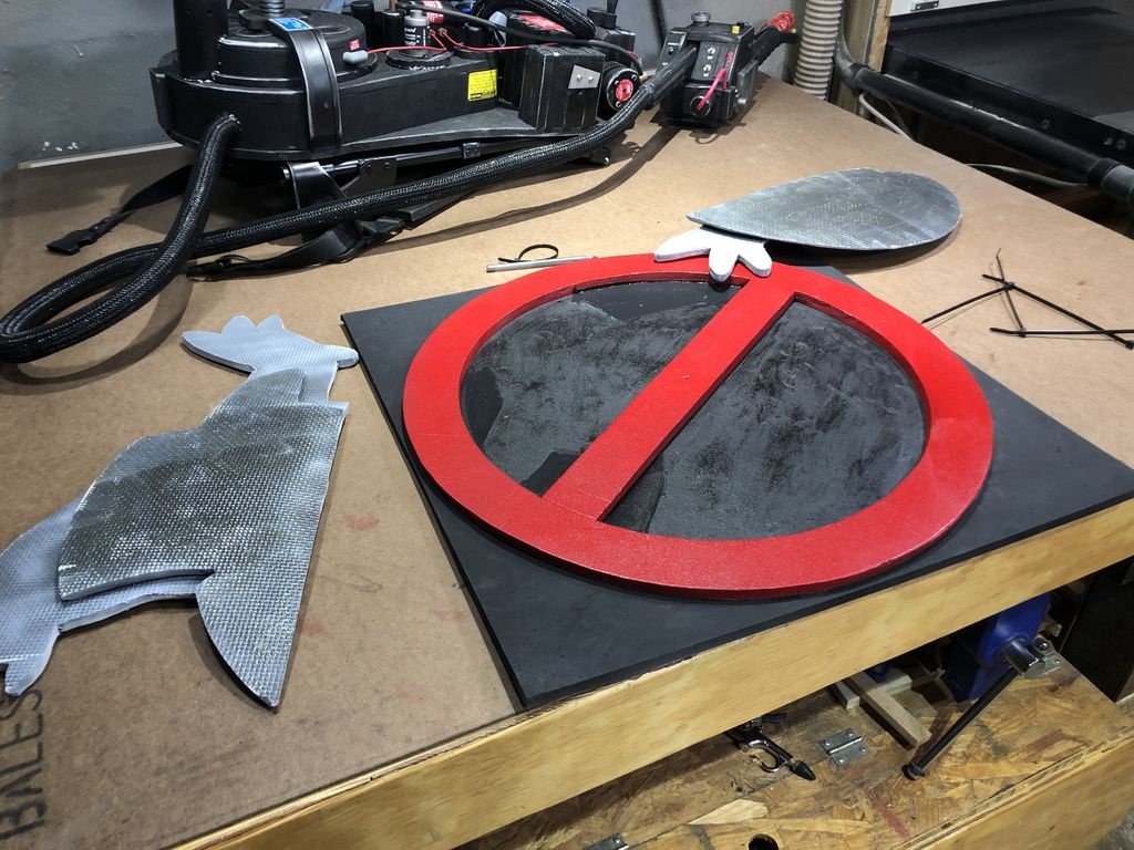 Picture of Ghostbusters Sign Fabrication