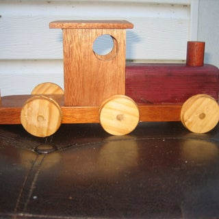 Wooden Train With Wagons