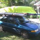 Canoe on Car, Maui