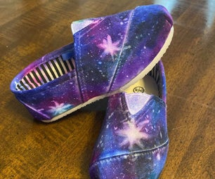 DIY Sharpie Galaxy Shoes