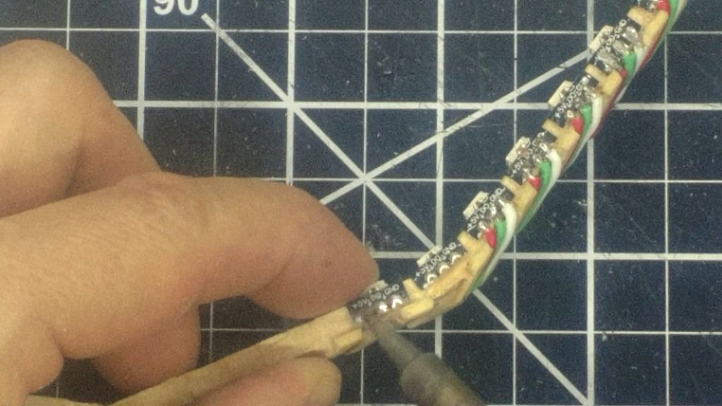 Picture of Solder the LEDs Together