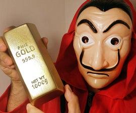 Money Heist - Steal a Gold Bar? Let's Make One DIY