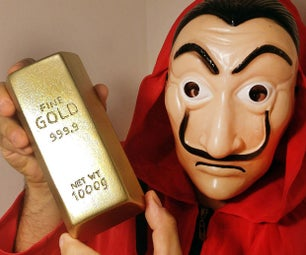 Money Heist - Steal a Gold Bar? Let's Make One DIY