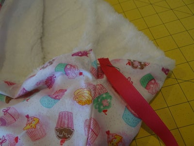 Add Drawstring and Finish Foot Cozy